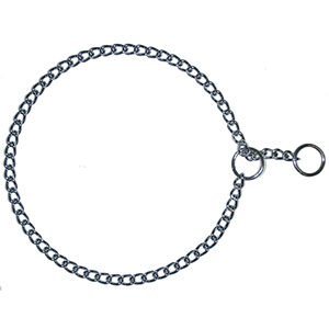 Chrome Check Chain Dog Collars